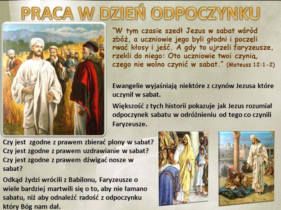 """""""W tym czasie szedł Jezus w sabat wśród zbóż, a uczniowie jego byli głodni i poczęli rwać kłosy i jeść. A gdy to ujrzeli faryzeusze, rzekli do niego:"""