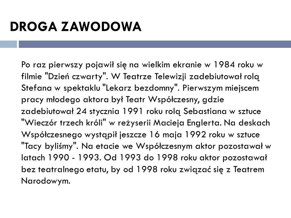 DROGA ZAWODOWA Po raz pierwszy pojawił się na wielkim ekranie w 1984 roku w filmie