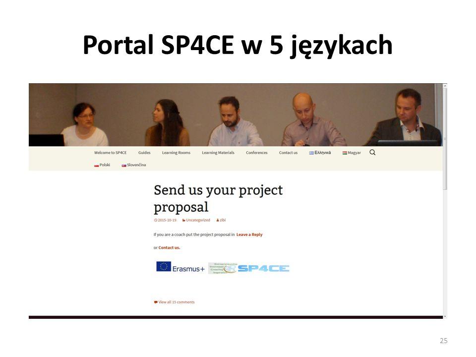 Portal SP4CE w 5 językach 25