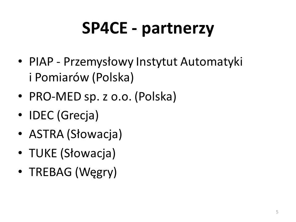 SP4CE - partnerzy PIAP - Przemysłowy Instytut Automatyki i Pomiarów (Polska) PRO-MED sp.