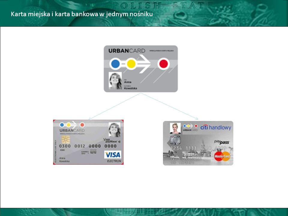 Karta miejska i karta bankowa w jednym nośniku