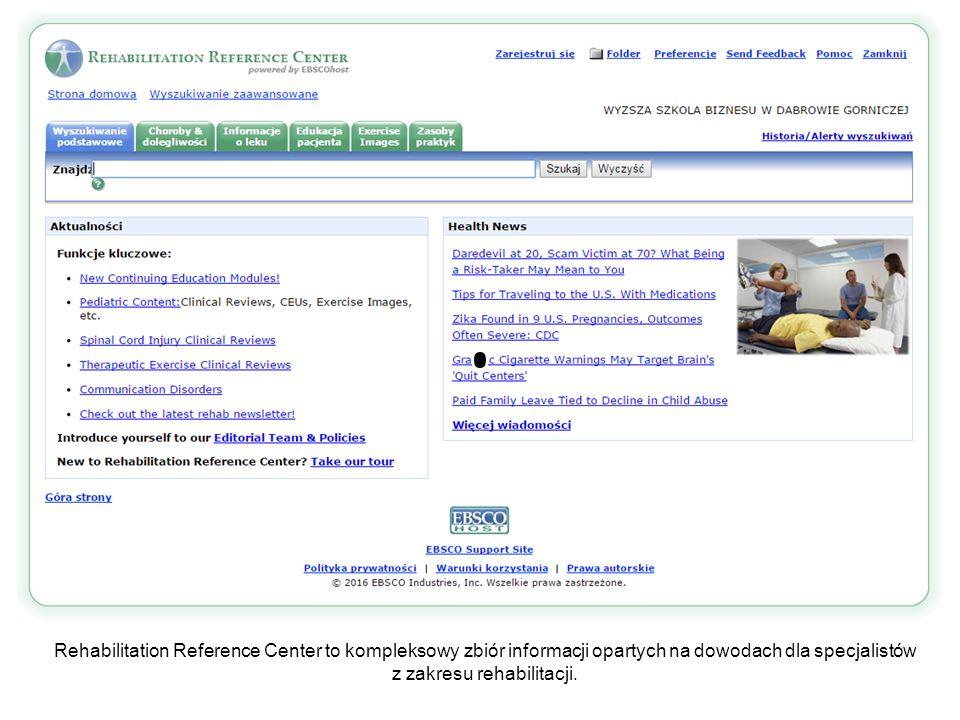 RRC oferuje wiele sposobów, aby wydrukować materiały informacyjne dotyczące rehabilitacji pacjenta.