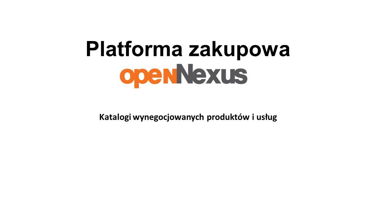 Platforma zakupowa Katalogi wynegocjowanych produktów i usług