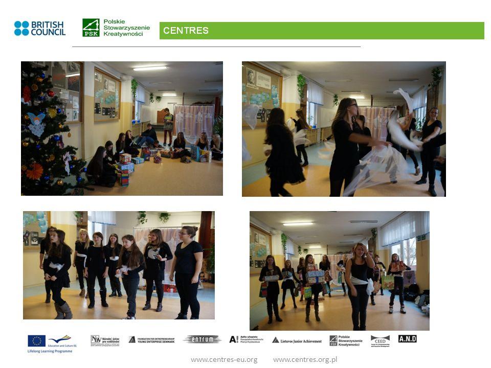 Inspiracją tegorocznych Świąt Bożego Narodzenia i naszych twórczych poszukiwań stało się Piórko: Ptasie Lekkie jak mgiełka Cudownie ulotne www.centres-eu.org www.centres.org.pl