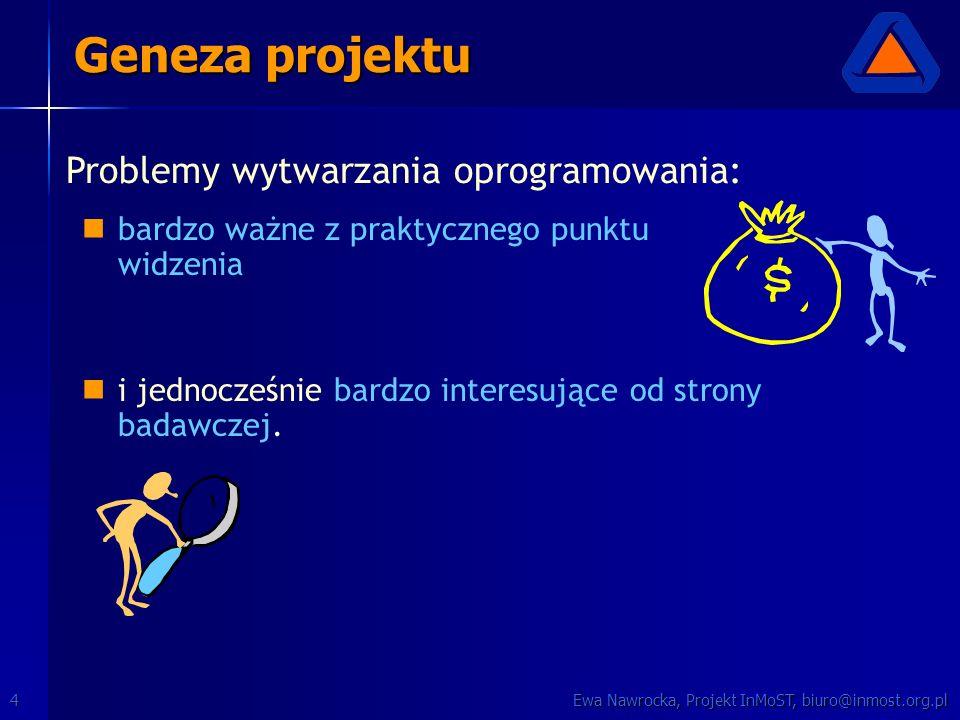 Ewa Nawrocka, Projekt InMoST, biuro@inmost.org.pl4 bardzo ważne z praktycznego punktu widzenia i jednocześnie bardzo interesujące od strony badawczej.
