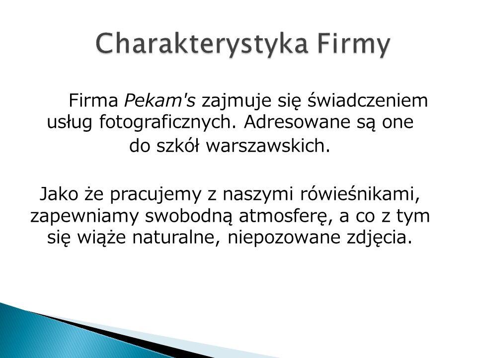 Firma Pekam s zajmuje się świadczeniem usług fotograficznych.