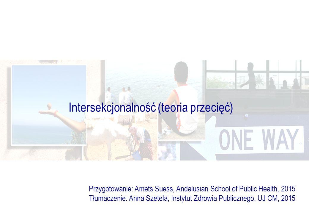 Intersekcjonalność (teoria przecięć) Przygotowanie: Amets Suess, Andalusian School of Public Health, 2015 Tłumaczenie: Anna Szetela, Instytut Zdrowia Publicznego, UJ CM, 2015