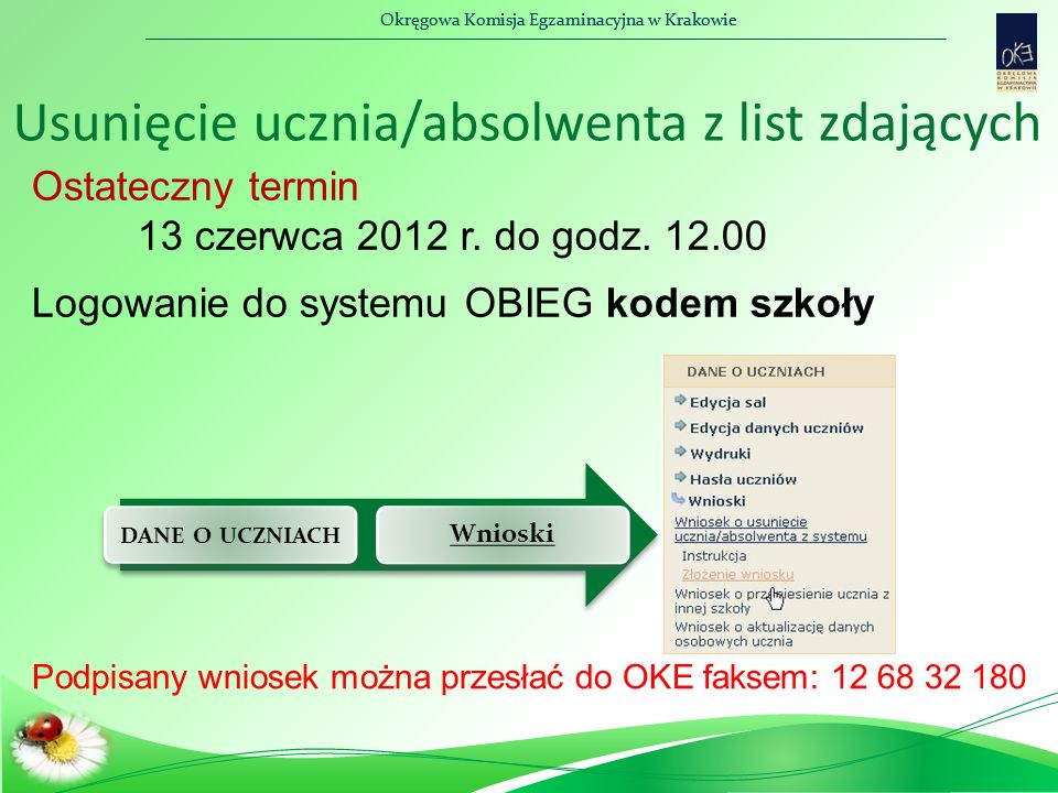 Okręgowa Komisja Egzaminacyjna w Krakowie Komputer jako dostosowanie warunków egzaminu  Komputer nie może być podłączony do sieci, a drukarka podłączona jest bezpośrednio do komputera.