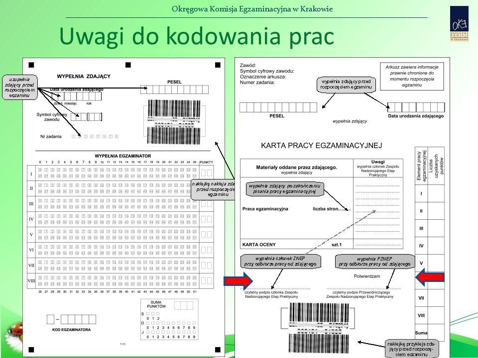 Okręgowa Komisja Egzaminacyjna w Krakowie Uwagi do kodowania prac
