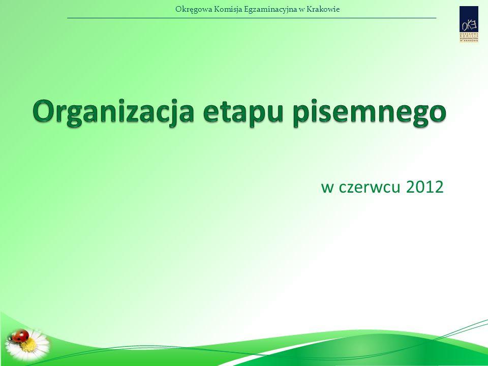 Okręgowa Komisja Egzaminacyjna w Krakowie Terminy egzaminów  Etap praktyczny  Etap praktyczny – TiSPol - czas trwania – 240 min, I zmiana – godz.