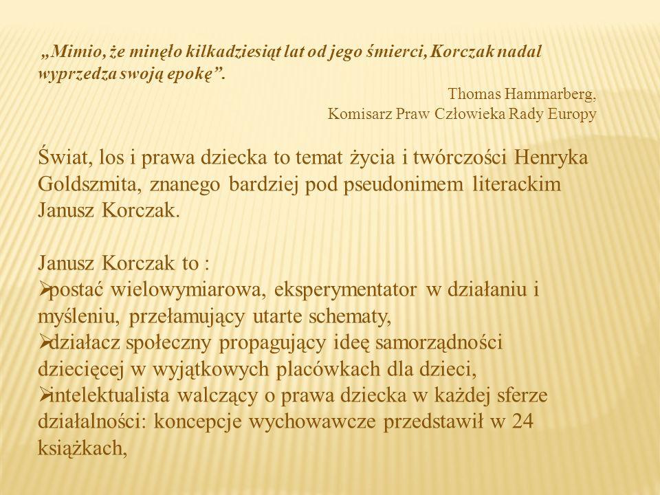 Fotografia Korczaka z gazety po otrzymaniu nagrody Polskiej Akademii Literatury w 1937 roku Korczak upominał się o prawa dziecka także jako pisarz, autor pism pedagogicznych i dziennikarz.