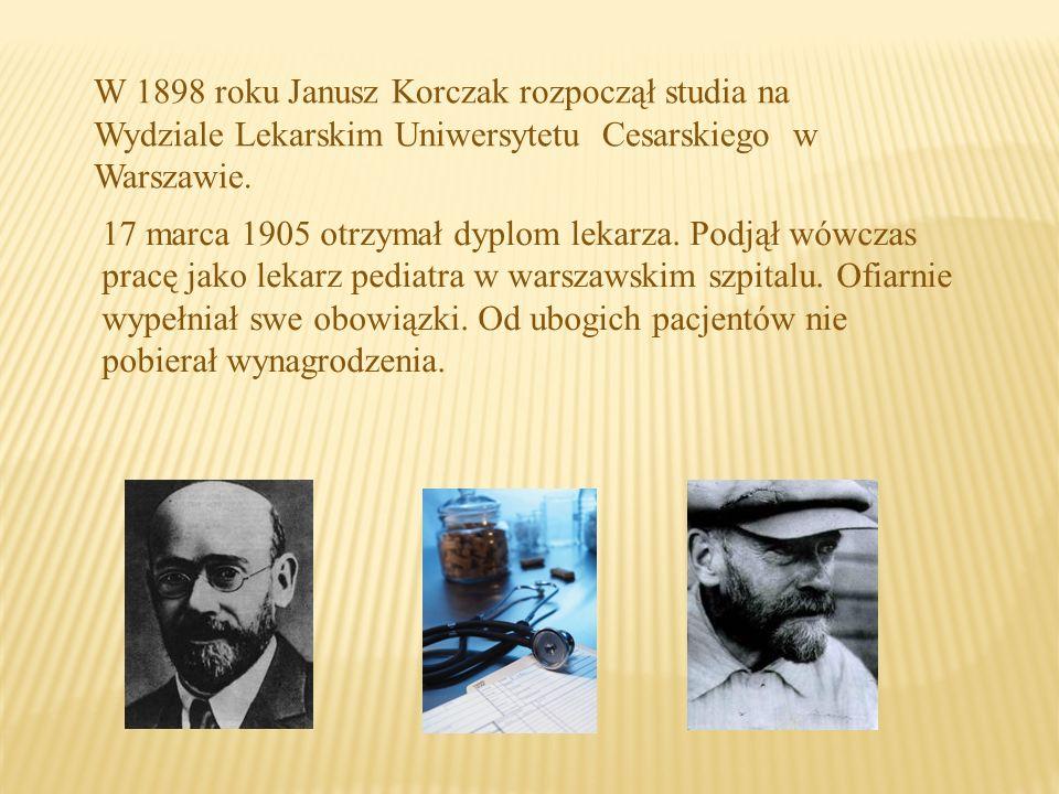 Korczak, zarówno jako działacz społeczny, pisarz i publicysta, jak i lekarz w żydowskim szpitalu dziecięcym i szpitalach wojskowych, najbardziej był wyczulony na krzywdę dziecka.