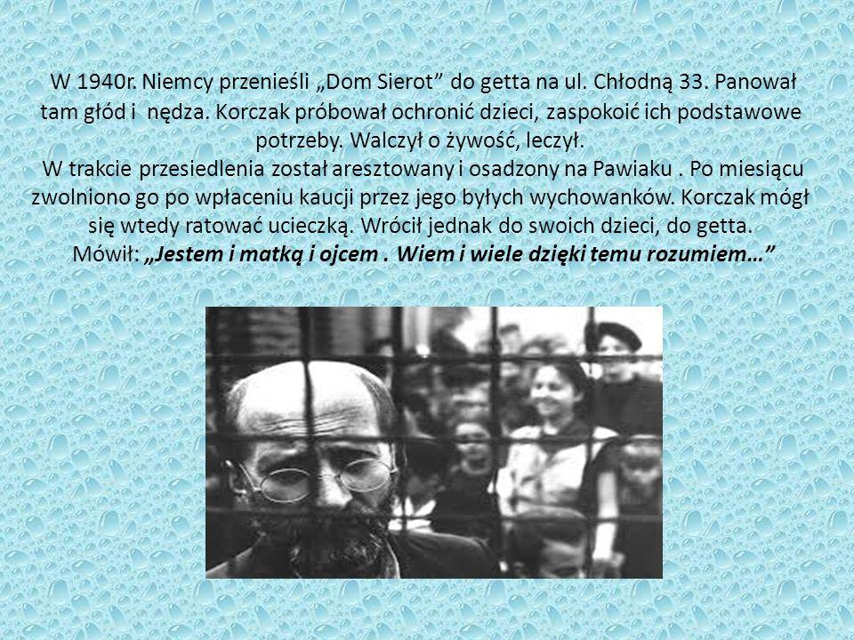 """W 1940r. Niemcy przenieśli """"Dom Sierot do getta na ul."""