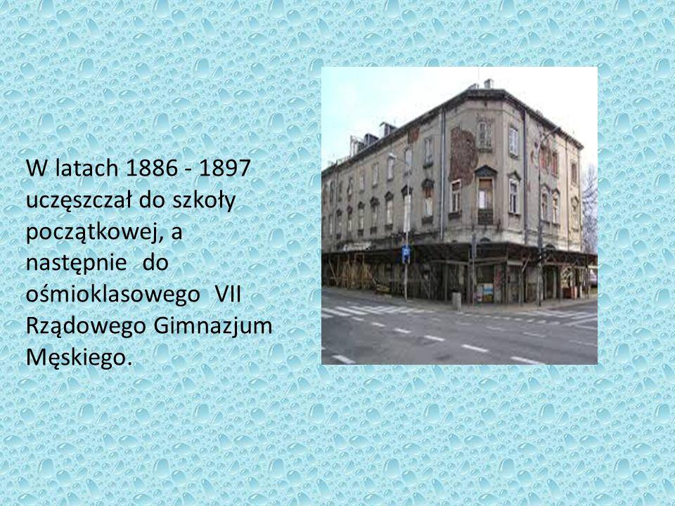 W latach 1886 - 1897 uczęszczał do szkoły początkowej, a następnie do ośmioklasowego VII Rządowego Gimnazjum Męskiego.