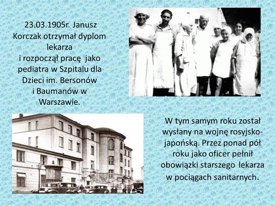 W latach 1907 – 1911 Korczak odbywał praktyki w Berlinie, Paryżu i Londynie.