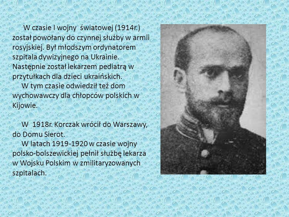Działalność literacka i radiowa Janusz Korczak zadebiutował we wrześniu 1896r.