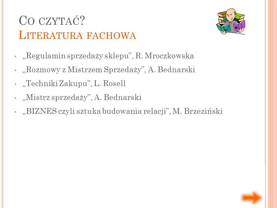 """""""Regulamin sprzedaży sklepu , R. Mroczkowska """"Rozmowy z Mistrzem Sprzedaży , A."""