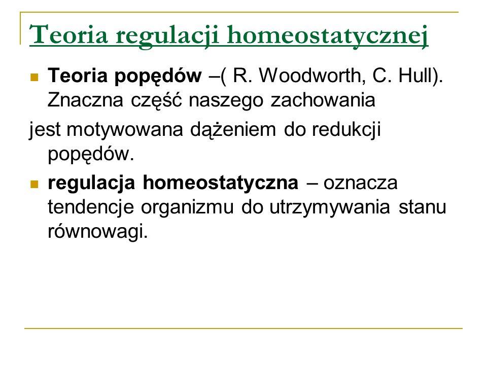 Teoria regulacji homeostatycznej Teoria popędów –( R.