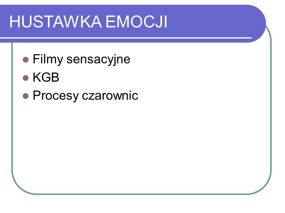 HUSTAWKA EMOCJI Filmy sensacyjne KGB Procesy czarownic