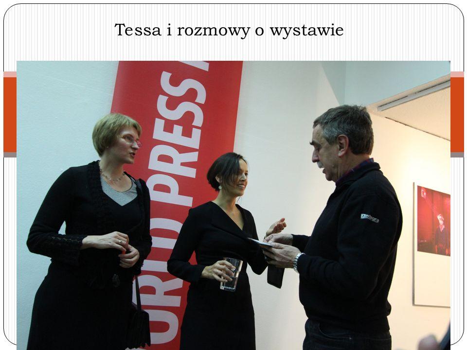 Tessa i rozmowy o wystawie