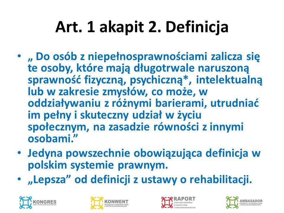 Art.24. Edukacja Nacisk na włączający system kształcenia.