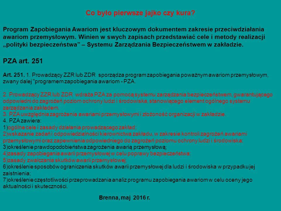 ZDR Raport o bezpieczeństwie art.253 Rozporządzenie Ministra Rozwoju z dnia 23.02.2016 r.