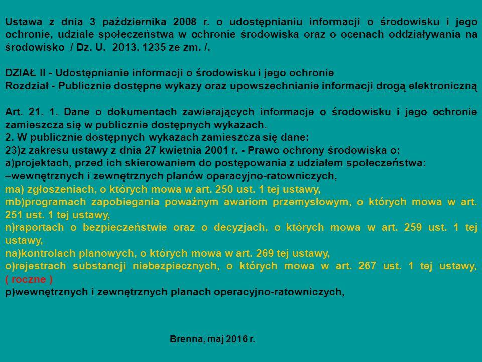 Ustawa z dnia 3 października 2008 r.