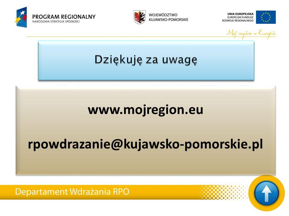 www.mojregion.eu rpowdrazanie@kujawsko-pomorskie.pl www.mojregion.eu rpowdrazanie@kujawsko-pomorskie.pl