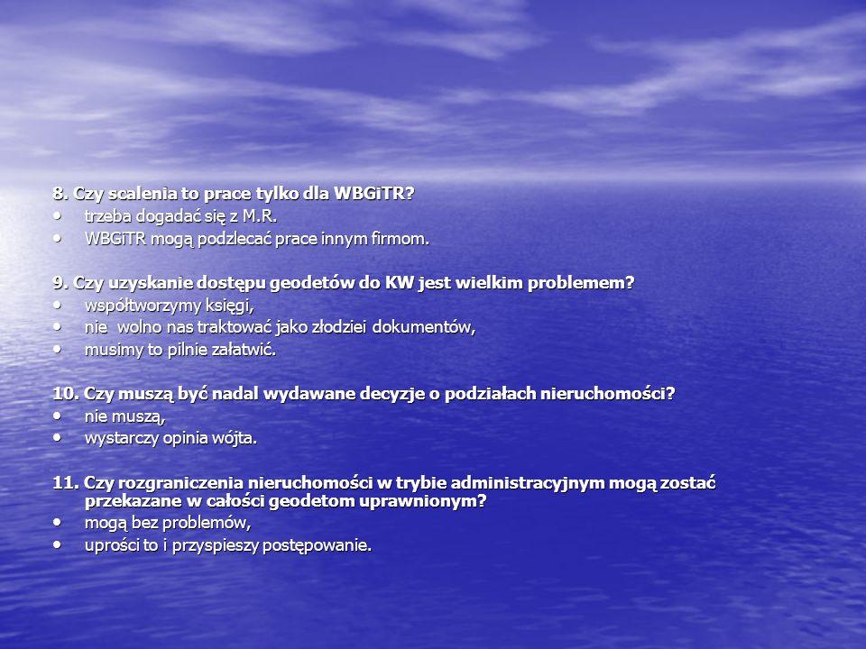 12.Czy samorząd zawodowy poprawi sytuację w geodezji.