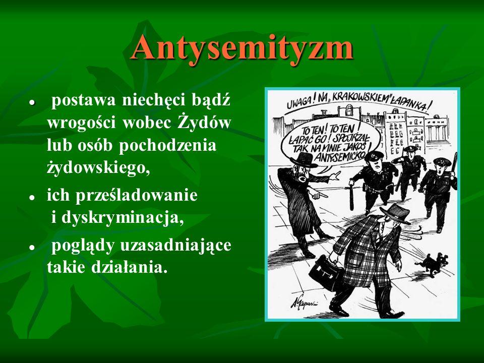 """Stereotyp źródło antysemityzmu Żyd : zabójca Chrystusa (""""bogobójca ), """"kozioł ofiarny , chciwy, skłonny do oszustwa, leniwy, tchórzliwy, brudny, brzydki i śmierdzący, dziwny (demoniczny), złodziej komunikantów i profanator hostii, porywacz dzieci dla mordu rytualnego, komunista."""