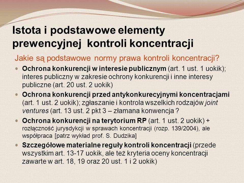 V.Sankcje administracyjne z tytułu naruszeń zasad kontroli koncentracji 4.