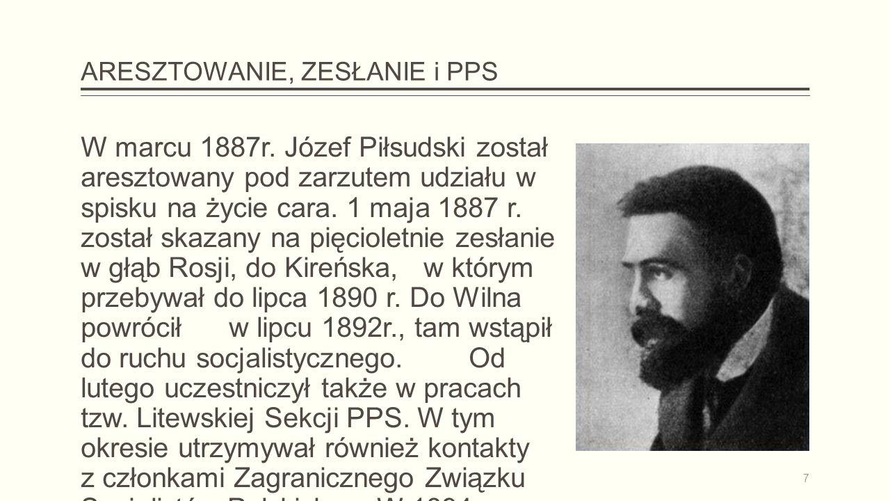 ARESZTOWANIE, ZESŁANIE i PPS W marcu 1887r.