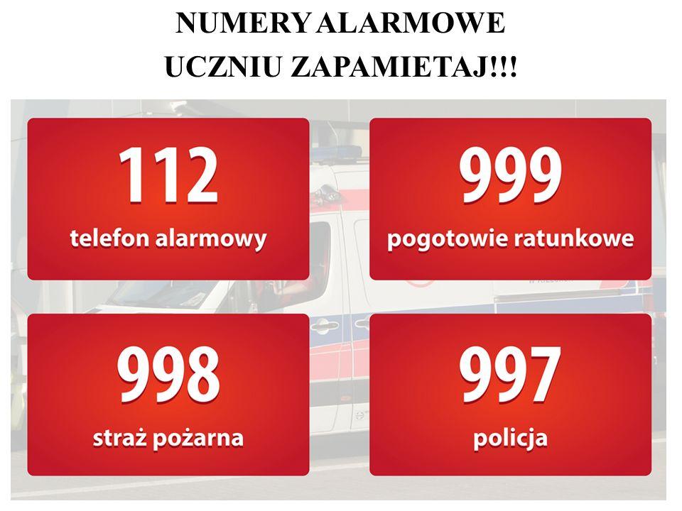 NUMERY ALARMOWE UCZNIU ZAPAMIETAJ!!!