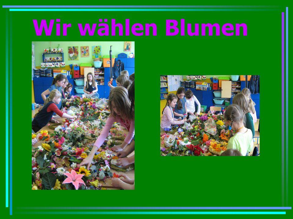 Wir wählen Blumen