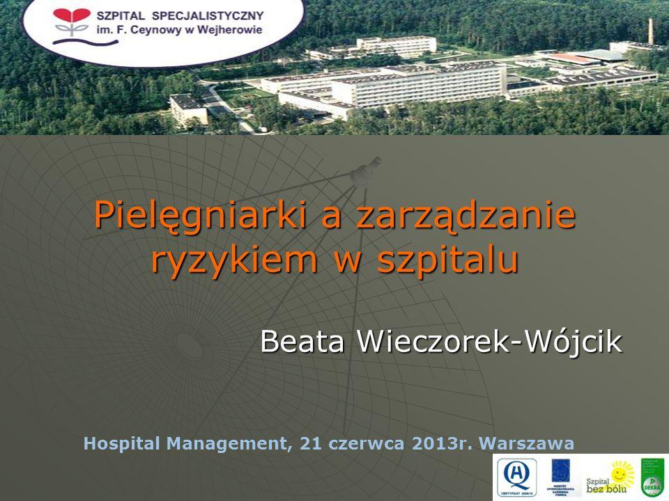 Pielęgniarki a zarządzanie ryzykiem w szpitalu Beata Wieczorek-Wójcik Hospital Management, 21 czerwca 2013r.