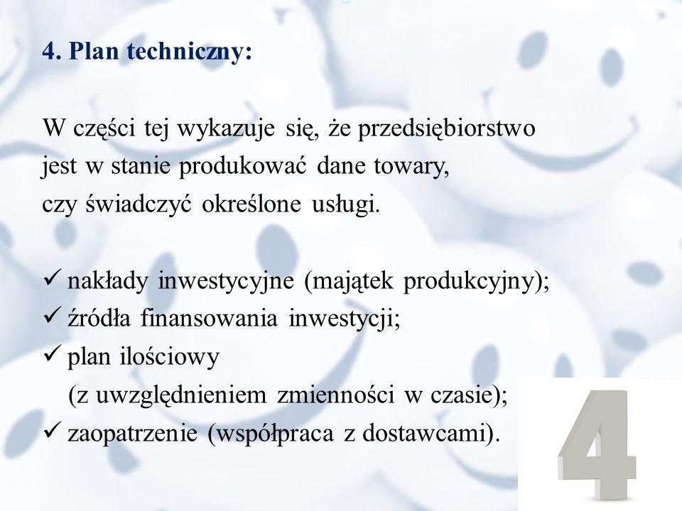 5.Struktura organizacyjna i plan zatrudnienia: Np.