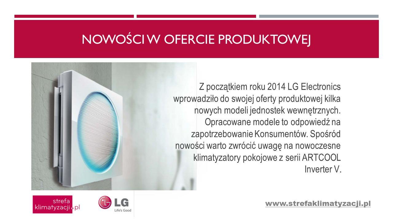 NOWOŚCI W OFERCIE PRODUKTOWEJ Z początkiem roku 2014 LG Electronics wprowadziło do swojej oferty produktowej kilka nowych modeli jednostek wewnętrznyc