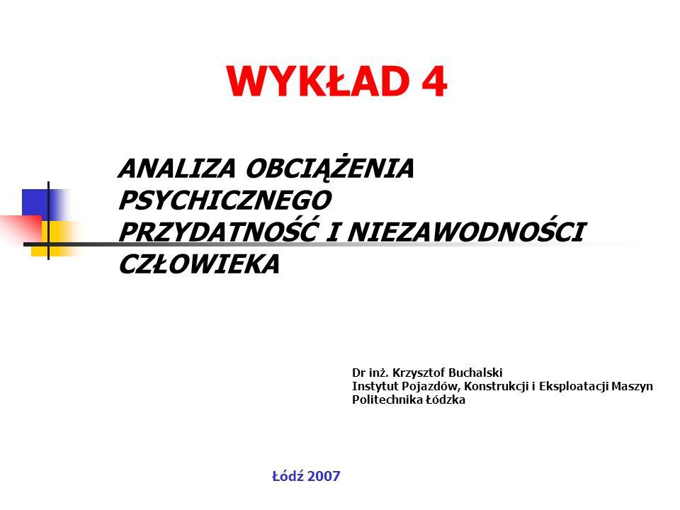WYKŁAD 4 Łódź 2007 Dr inż.