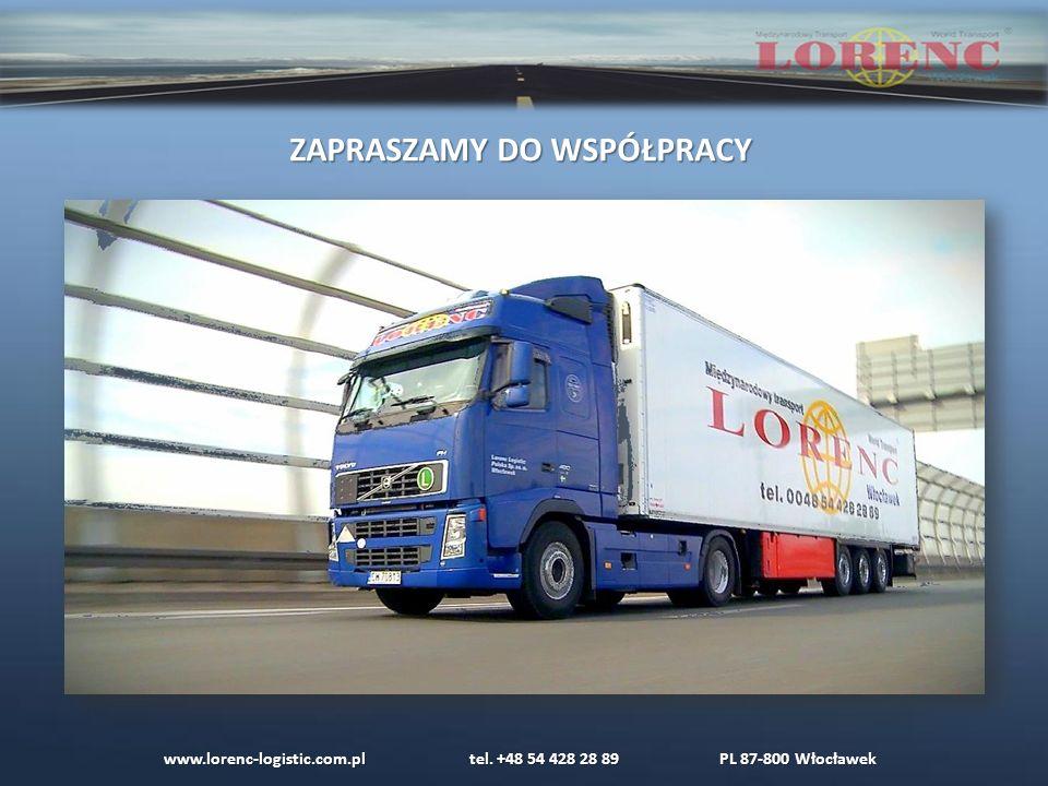 www.lorenc-logistic.com.pl tel. +48 54 428 28 89 PL 87-800 Włocławek ZAPRASZAMY DO WSPÓŁPRACY