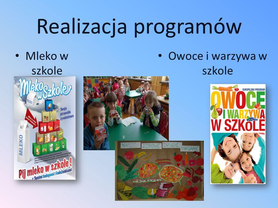 Realizacja programów Mleko w szkole Owoce i warzywa w szkole