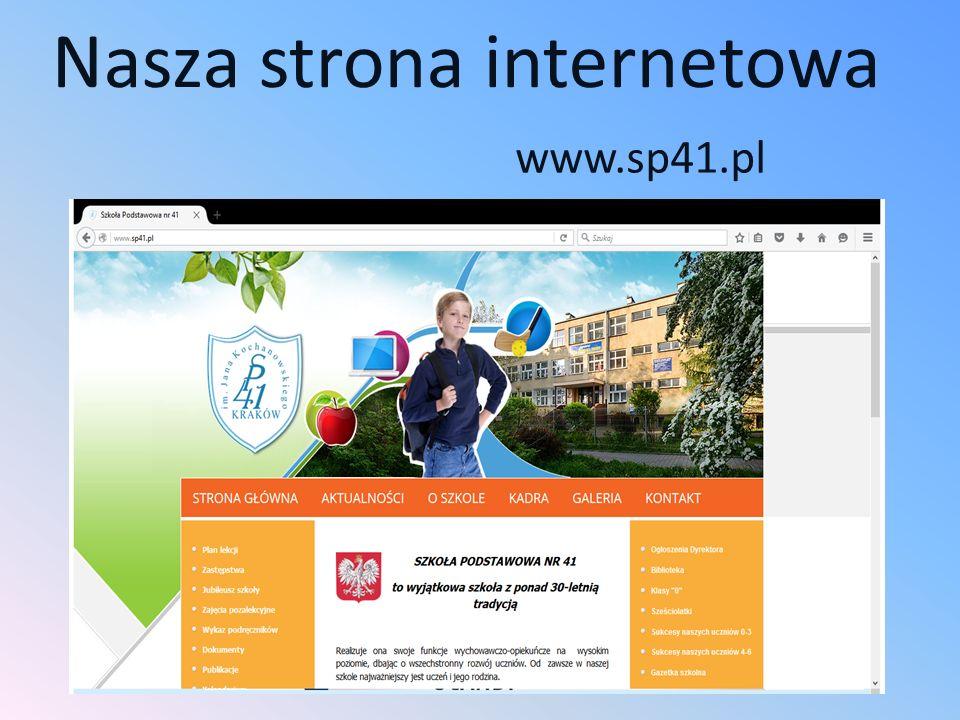 Nasza strona internetowa www.sp41.pl