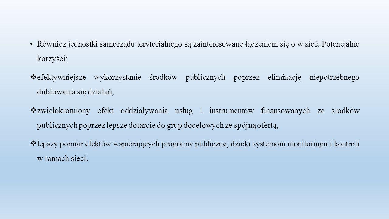 Również jednostki samorządu terytorialnego są zainteresowane łączeniem się o w sieć.