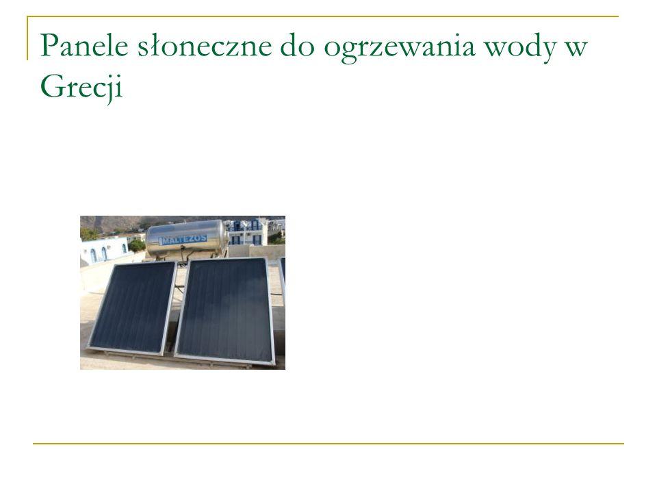 Panele słoneczne do ogrzewania wody w Grecji