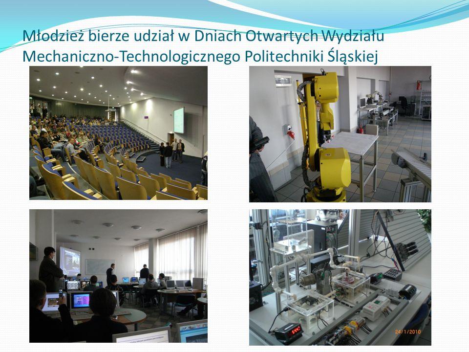 Młodzież bierze udział w Dniach Otwartych Wydziału Mechaniczno-Technologicznego Politechniki Śląskiej