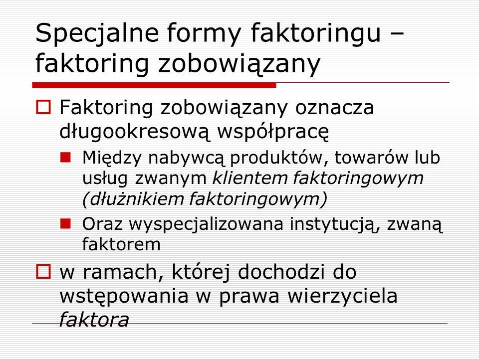 Efekty faktoringu zmodyfikowanego i agencyjnego