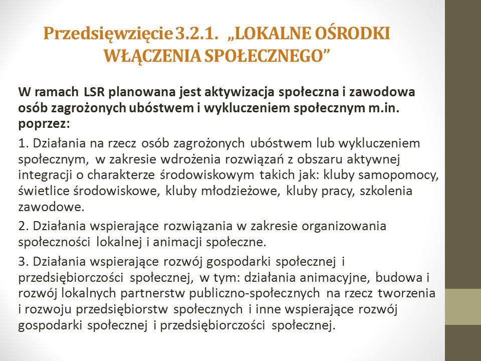 Przedsięwzięcie 3.2.1.