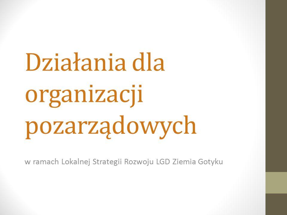 Działania dla organizacji pozarządowych w ramach Lokalnej Strategii Rozwoju LGD Ziemia Gotyku