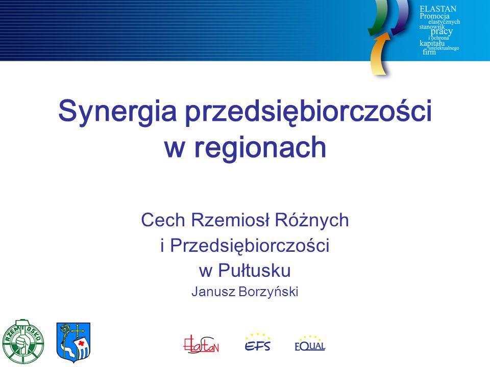Synergia przedsiębiorczości w regionach Cech Rzemiosł Różnych i Przedsiębiorczości w Pułtusku Janusz Borzyński