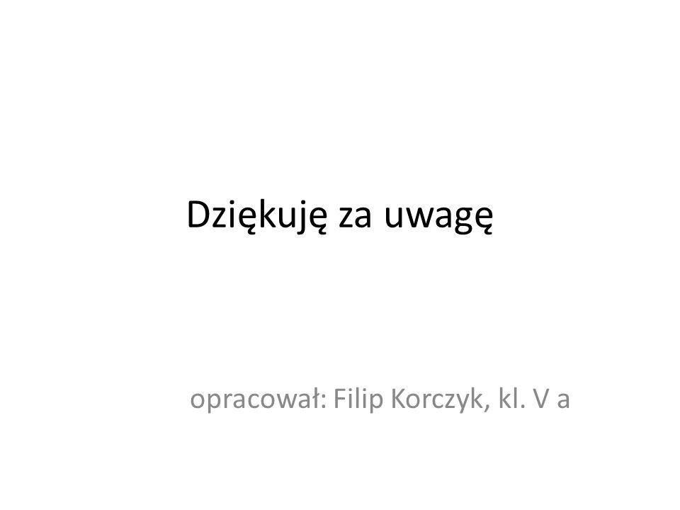 Dziękuję za uwagę opracował: Filip Korczyk, kl. V a