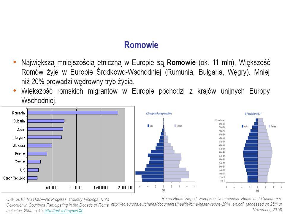 Największą mniejszością etniczną w Europie są Romowie (ok.